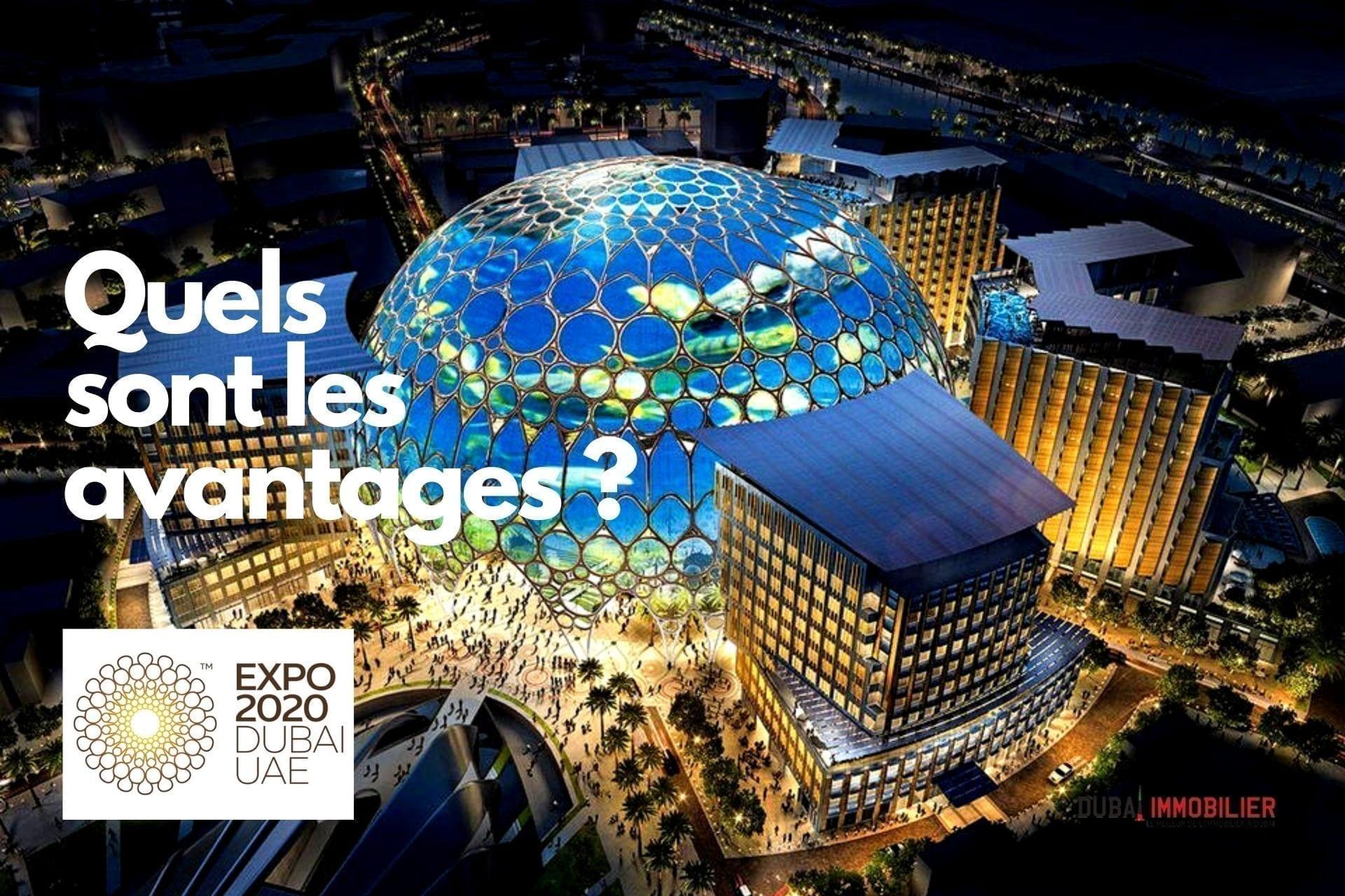 Expo 2020 de Dubaï : un énorme coup de pouce économique